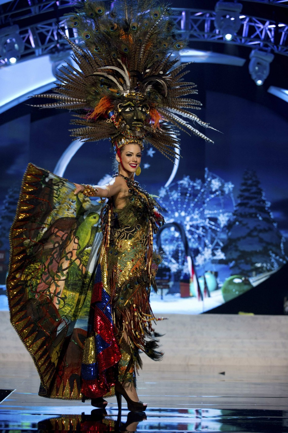 Miss Ecuador Carolina Perez on stage at the 2012 Miss Universe National Costume Show at PH Live in Las Vegas