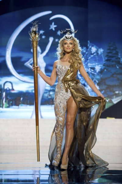 Miss South Africa Melinda Bam on stage at the 2012 Miss Universe National Costume Show at PH Live in Las Vegas