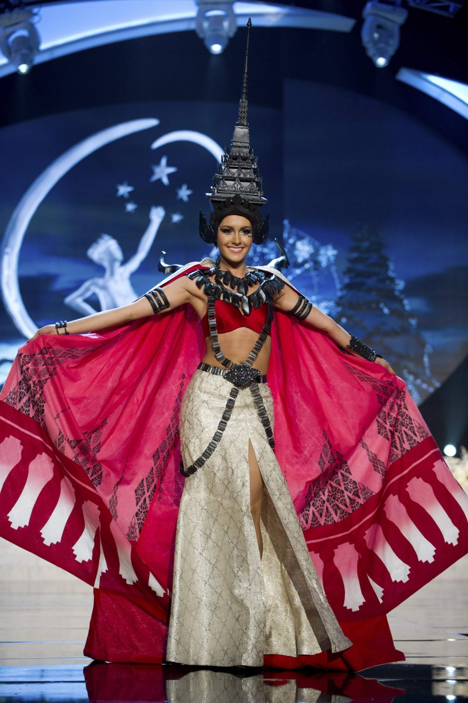 Miss Thailand Farida Waller on stage at the 2012 Miss Universe National Costume Show at PH Live in Las Vegas
