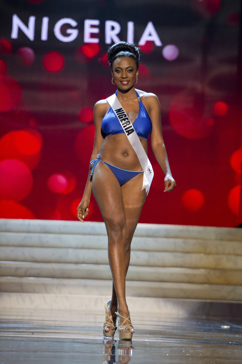 Miss Nigeria Isabella Ayuk at the Swimsuit Competition of the 2012 Miss Universe Presentation Show at PH Live in Las Vegas