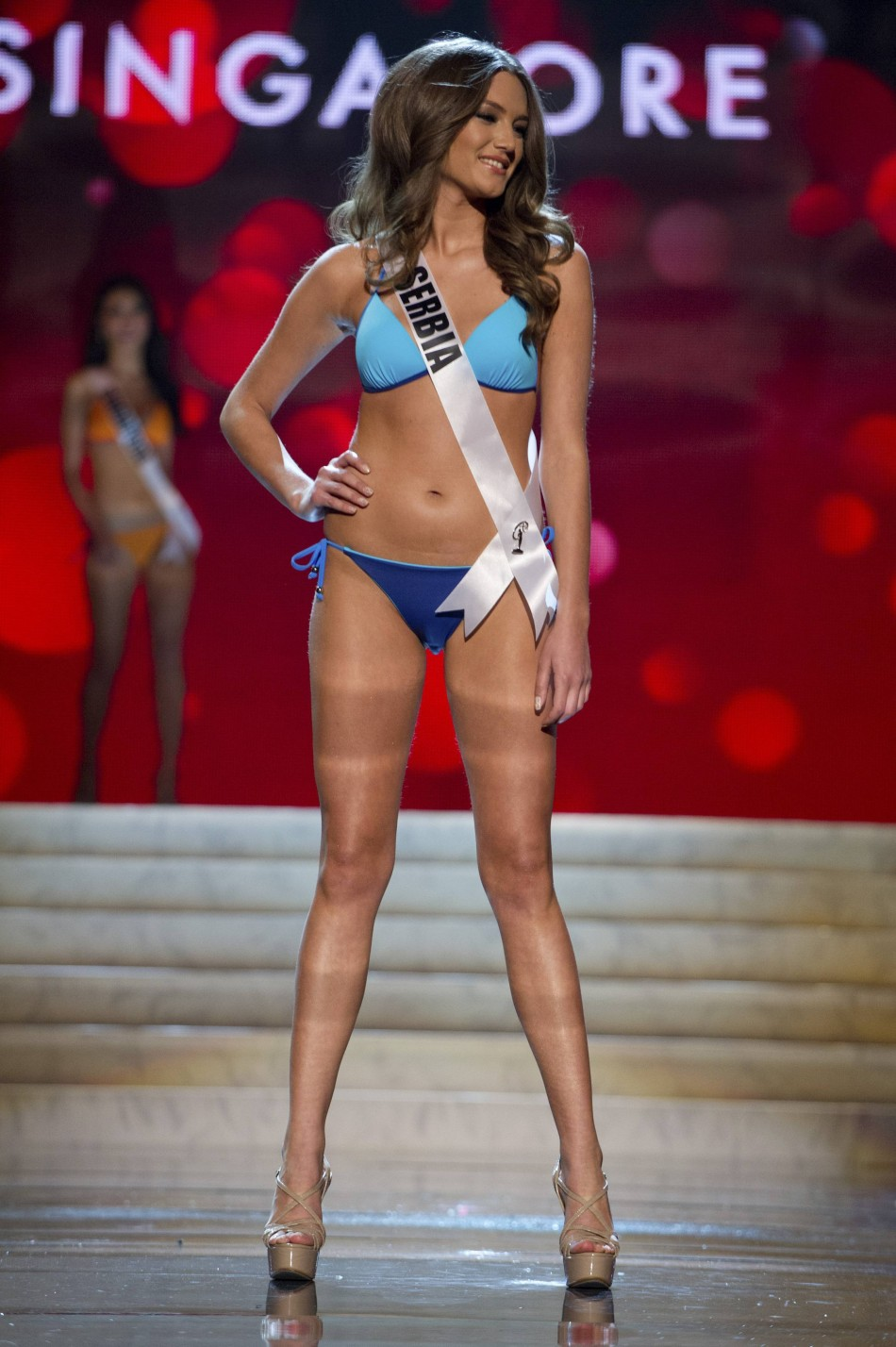 Miss Serbia Branislava Mandic at the Swimsuit Competition of the 2012 Miss Universe Presentation Show at PH Live in Las Vegas