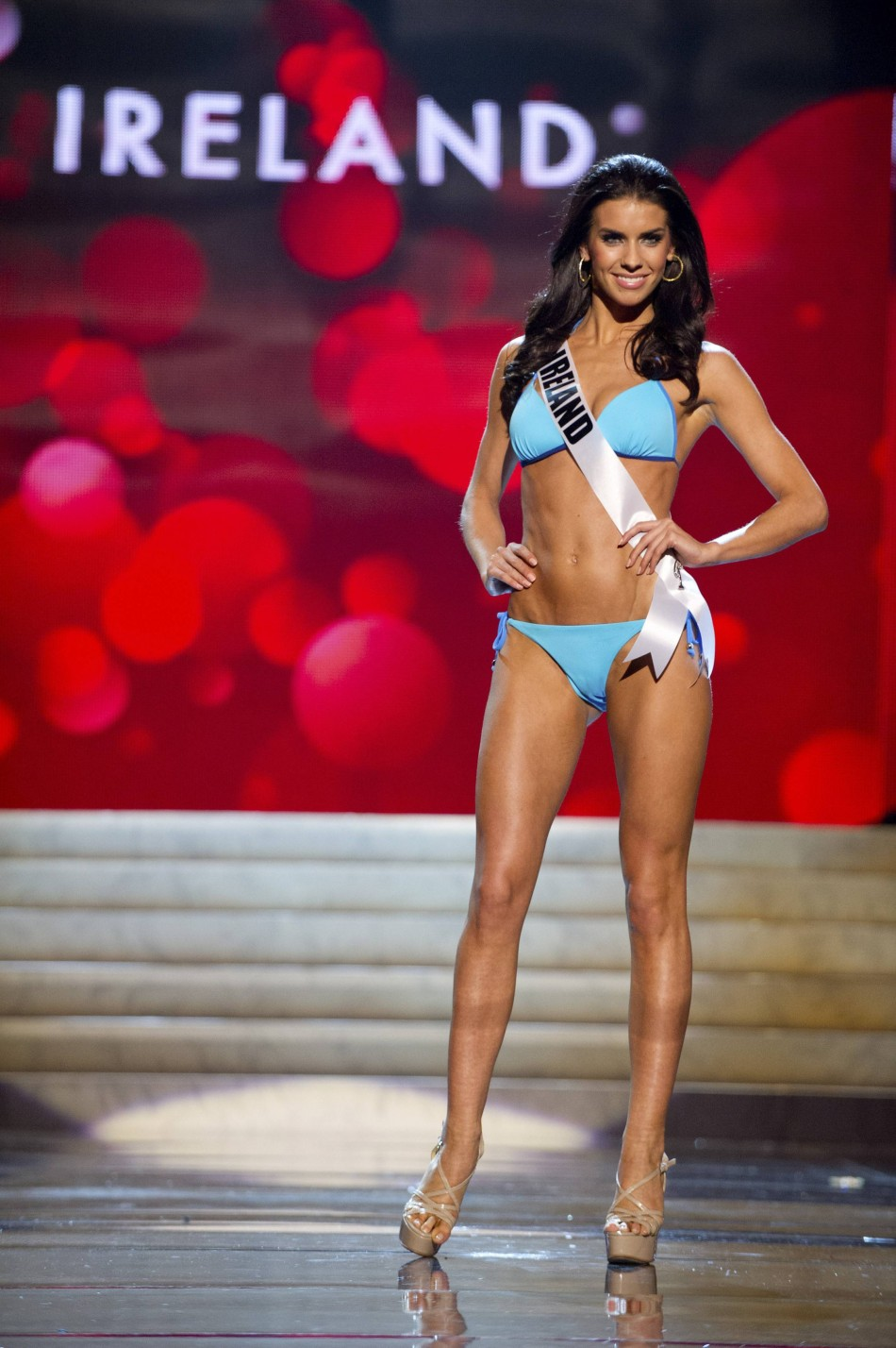 Miss Ireland Adrienne Murphy at the Swimsuit Competition of the 2012 Miss Universe Presentation Show at PH Live in Las Vegas