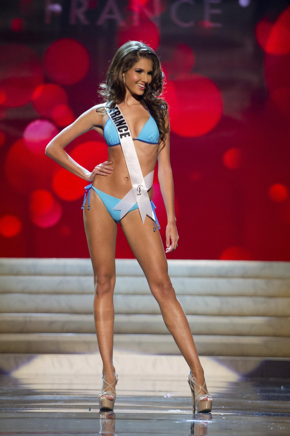 Miss France Delphine Wespiser at the Swimsuit Competition of the 2012 Miss Universe Presentation Show at PH Live in Las Vegas
