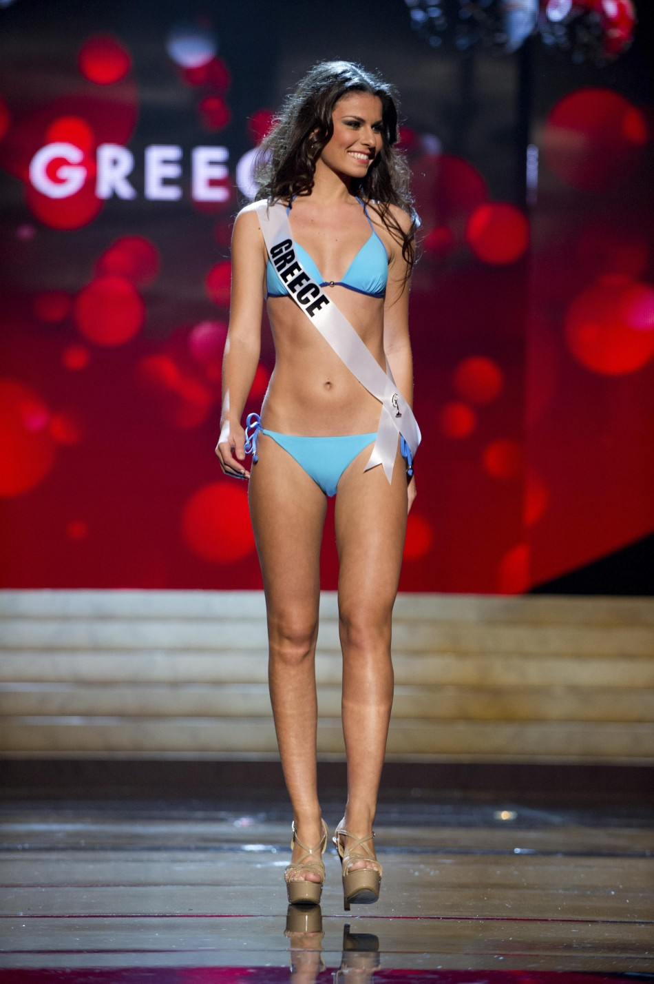Miss Greece Vasiliki Tsirogianni at the Swimsuit Competition of the 2012 Miss Universe Presentation Show at PH Live in Las Vegas