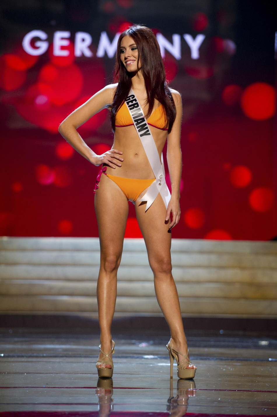 Miss Germany Alicia Endemann at the Swimsuit Competition of the 2012 Miss Universe Presentation Show at PH Live in Las Vegas