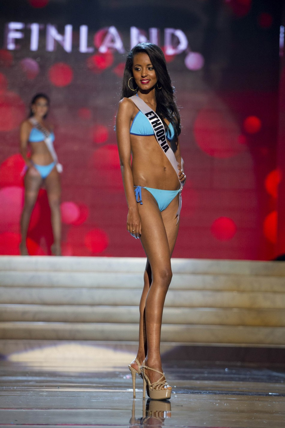Miss Ethiopia Helen Getachew at the Swimsuit Competition of the 2012 Miss Universe Presentation Show at PH Live in Las Vegas