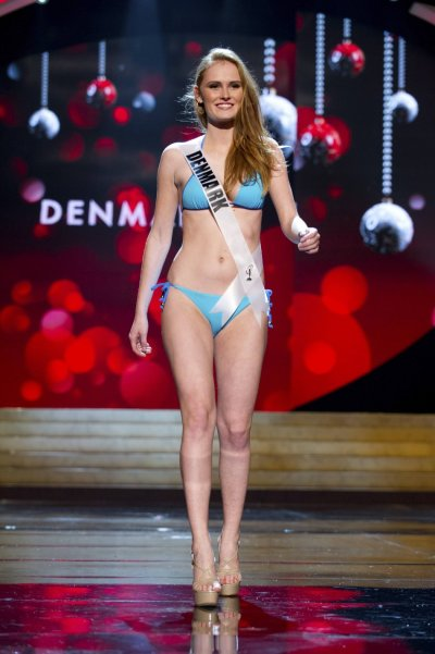 Miss Denmark Josefine Hewitt at the Swimsuit Competition of the 2012 Miss Universe Presentation Show at PH Live in Las Vegas