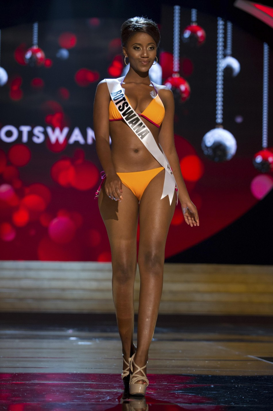 Miss Botswana Sheillah Molelekwa at the Swimsuit Competition of the 2012 Miss Universe Presentation Show at PH Live in Las Vegas