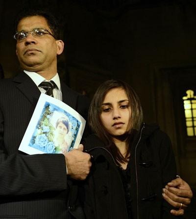 Jacintha Saldanha's Husband and daughter