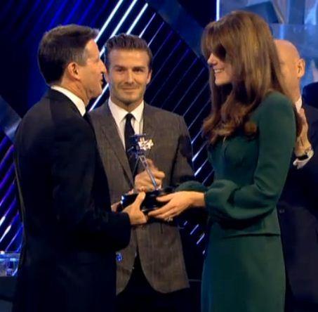 The Duchess of Cambridge Lifetime Achievement award to chairman of LOCOG Seb Coe