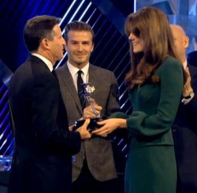 The Duchess of Cambridge Lifetime Achievement award to chairman of LOCOG Seb Coe