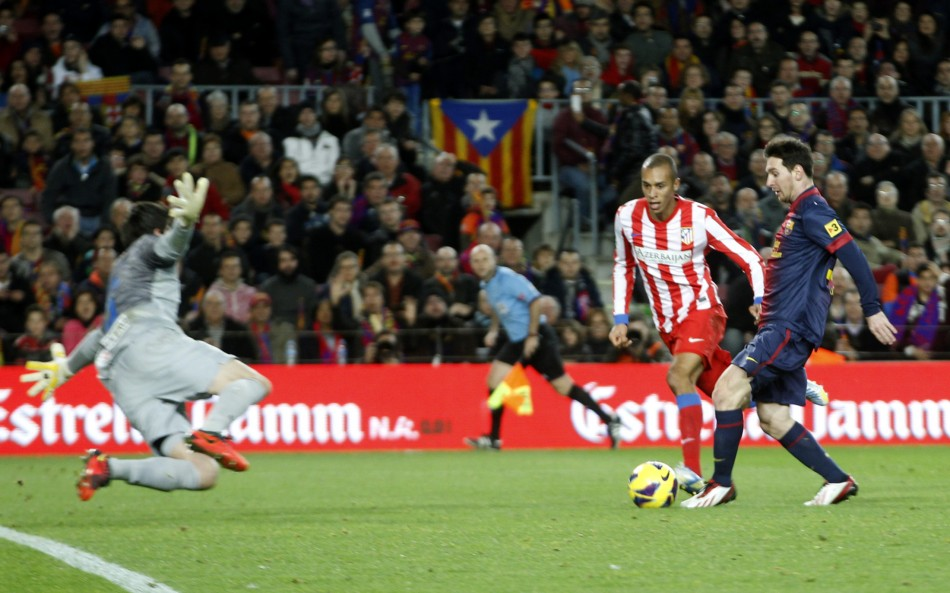 Courtois against Messi