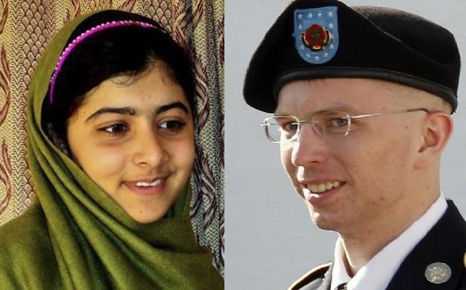 Malala Yousafzai and Bradley Manning