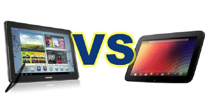 Nexus 10 vs Galaxy Note 10.1