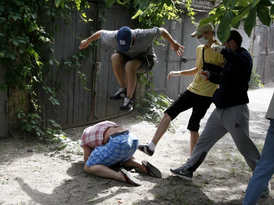 Images of 2012 anti-gay attack ukraine