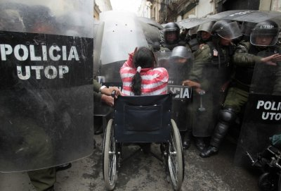 Images of 2012 bolivia disability payment protest