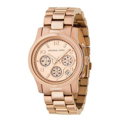 Michael Kors Rose Gold Plated Chronograph Ladies Watch