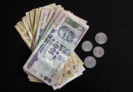 Rupee notes of different denominations