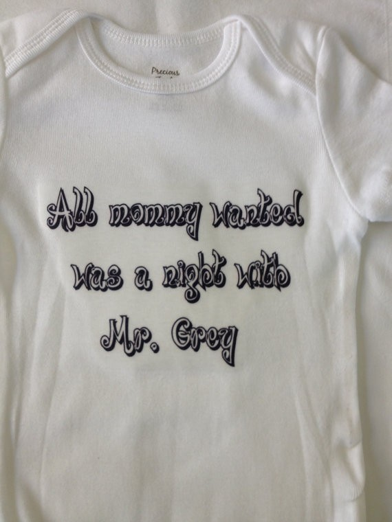 All mommy wanted was a night with Mr. Grey