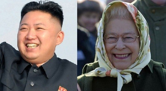 Kim Jong-un and the Queen