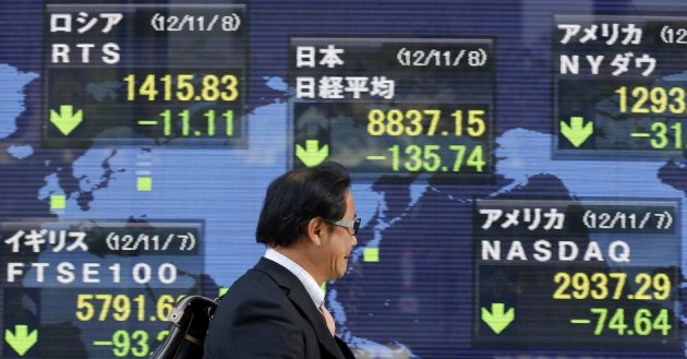 Asia markets slip on fiscal cliff and bank of japan meeting