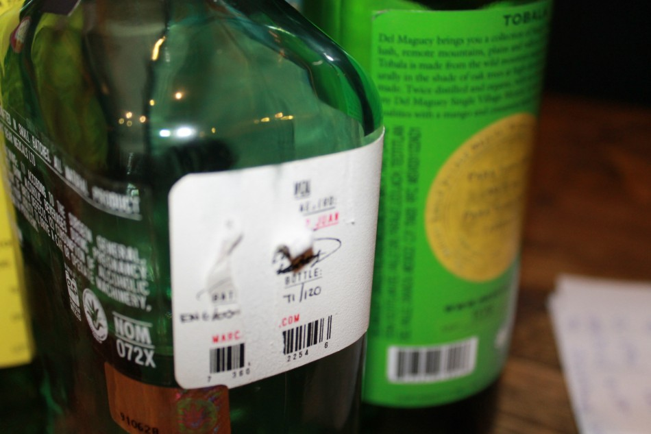 Mezcal Mano Negra, this one is 71 out of 100 bottles produced (Photo: Lianna Brinded)