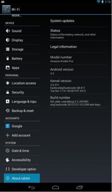 Amazon Kindle Fire Gets Android 4 2 1 Via AOSP ROM [Manually