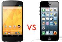 Google Nexus 4 vs. Apple iPhone 5