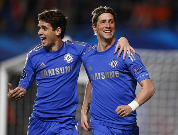 Fernando Torres (R) and Oscar