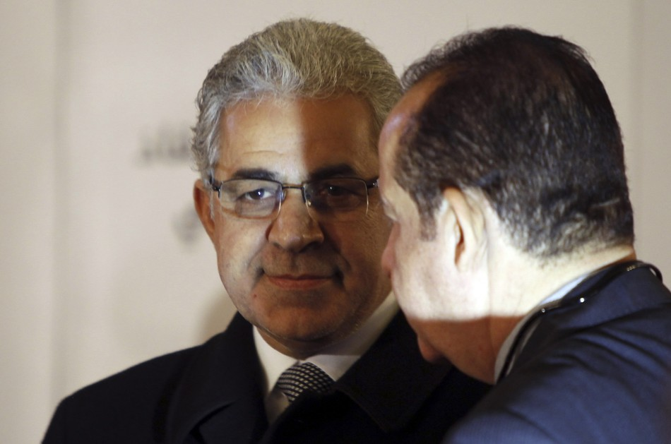 Hamdeen Sabahy, founder of the Popular Current movement, and Hussein Abdel Ghany