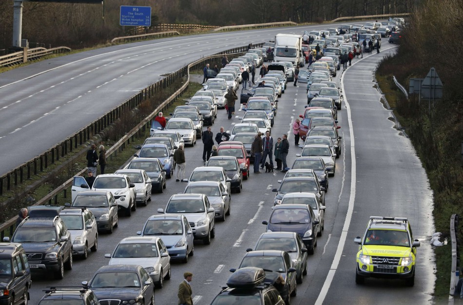 M6 motorway crash