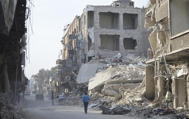 Syria Douma damage 21 Dec 2012 2