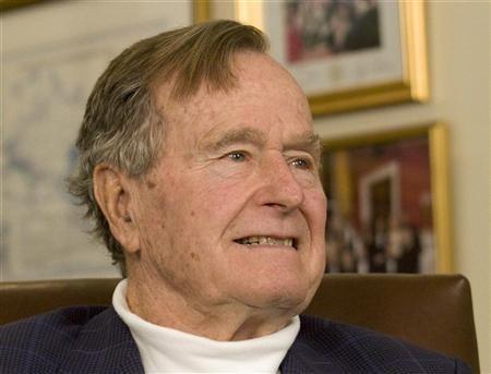 Former US president George H W Bush