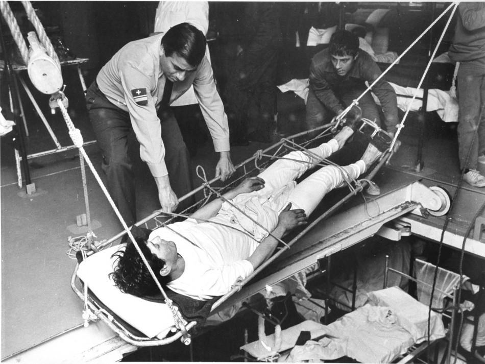 Injured Argentine soldiers