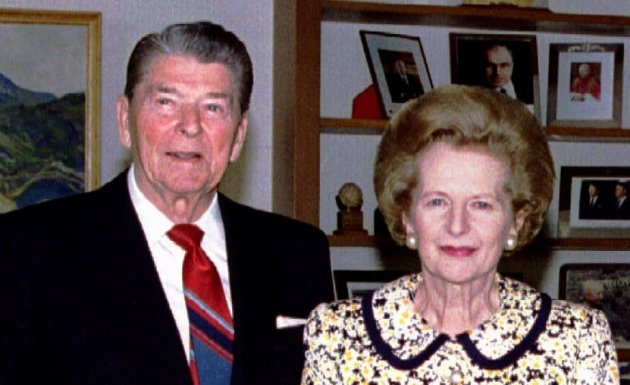 Reagan (l) and Thatcher got on better with each other than their sub-ordinates did