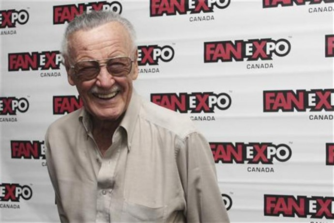 Stan Lee, co-creator of Spider-Man, poses for media at Fan Expo in Toronto