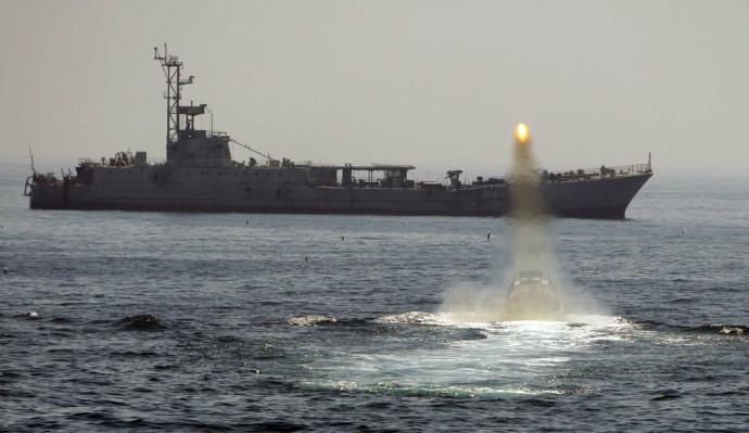 Iran naval drill