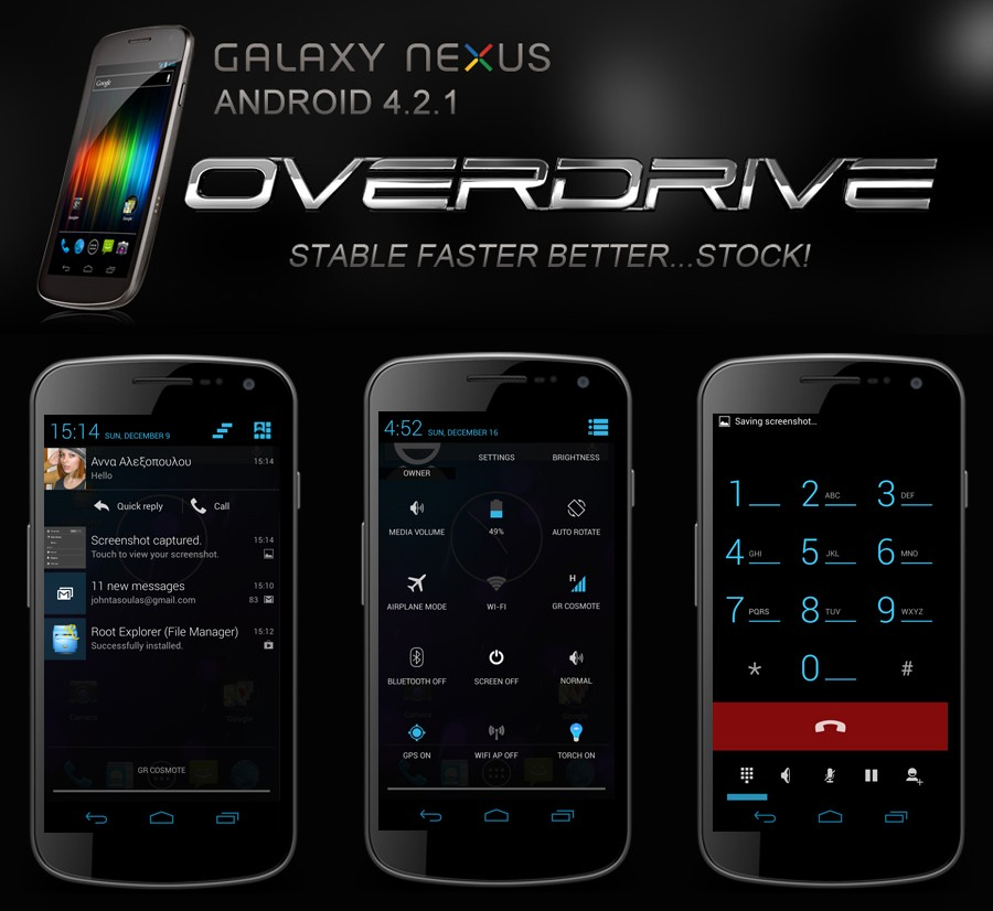 Galaxy Nexus GT-I9250 Gets Official JOP40D (Stock) Based Android 4.2.1 Overdrive ROM [How to Install]