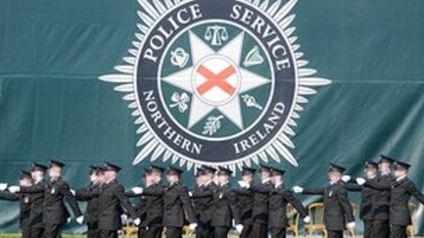 PSNI officers on parade