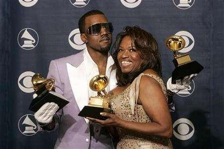 Kanye with his late mother Donda West