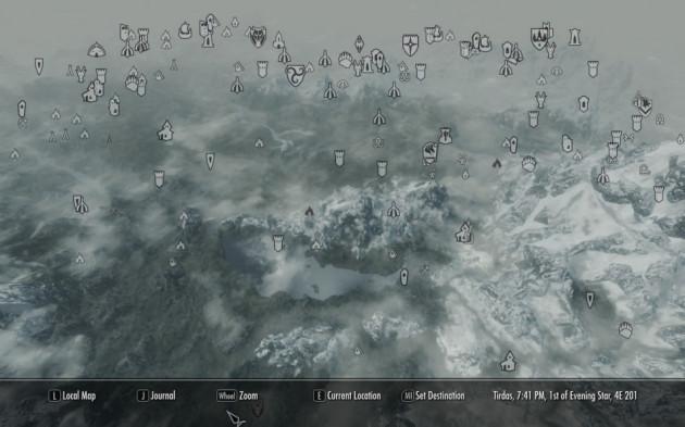 Skryim map