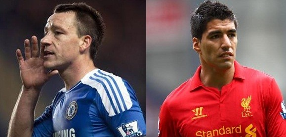 Both John Terry (L) and Luis Suarez have been banned for racism (Reuters)