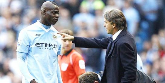 Mario Balotelli and Roberto Mancini