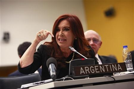 The advert was in response to Cristina Fernández de Kirchner's letter to David Cameron (Reuters)