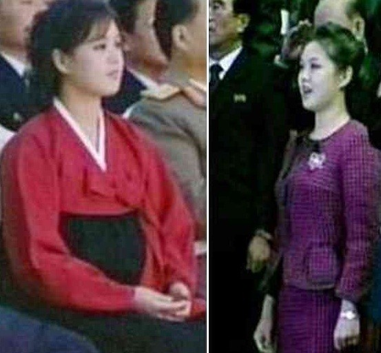 Ri Sol-Ju last year (l), this month