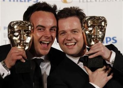 Ant and Dec hold their Bafta awards (Photo: Reuters)