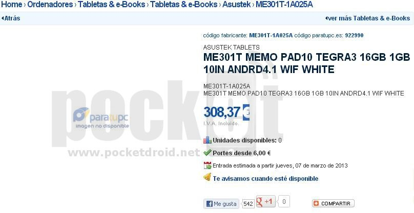 CES 2013: Asus ME301T Memo Pad10 Tablet Leaks, to be Powered by Tegra 3 Processor