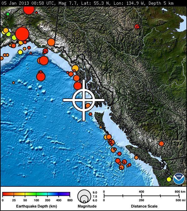 7.7 Earthquake off Coast of Alaska