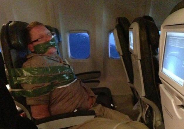 Man Taped to Chair in JFK Flight Drama