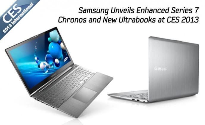 CES 2013: Samsung Announces Enhanced Series 7 Chronos and Ultrabooks Ahead of Launch